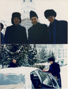 1989 With Bishop Lazlo Tokes, inspiration of the Romanian revolution against Ceaucescu, and with David Campanale