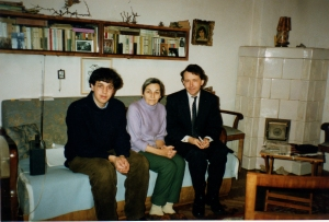 1989 With Doina Cornea at her home in Cluj, Transylvania, voiceferous and courageous Greek Catholic opponent of Ceaucesccu