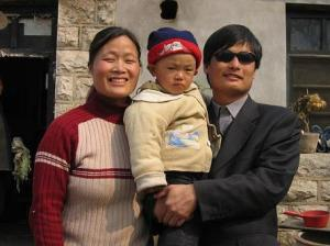 Chen Guangchen and his family