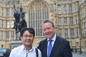 Jang Jin-sung at Westminster