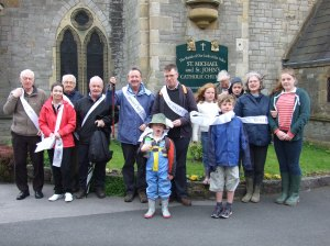 Some of the walkers, at Clitheroe, beginning the Right To Life Memorial Walk In The Ribble Valley On Bank Holiday Monday -  2013