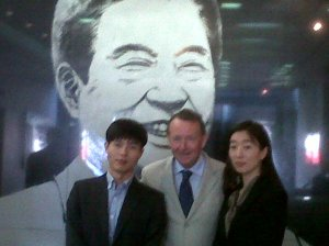 With Shin Dong Hyok - who escaped from Camp 14 - and Alice Choi at the Kim Dae Jung memorial Library in Seoul