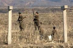 North korean border guards