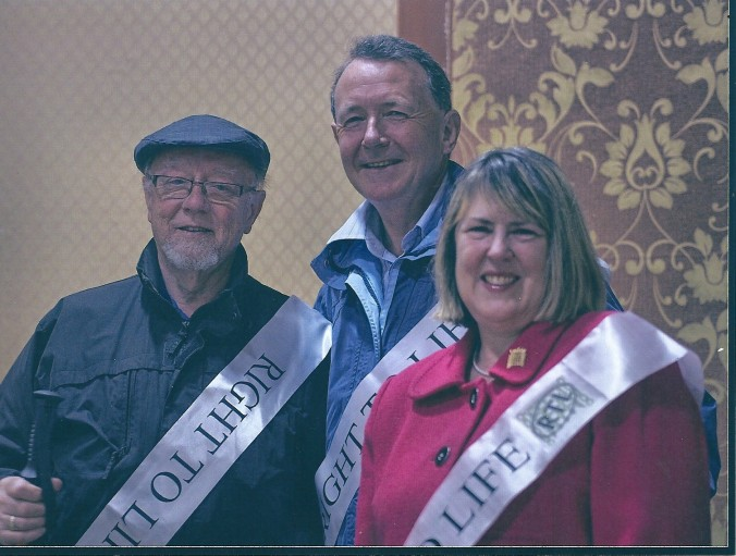 With Jim Dobbin MP and Fiona Bruce MP, Chairman and Vice Chairman of ther All Party Parliamentary pro Life Group on the 2012 Right To Life Sponsored walk in the Ribble Valley