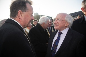With President Michael D.Higgins, ninth President of Ireland