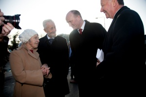 With Mr Brian and Mrs,Mary McCusker of Tourmakeady and Declan Ganley