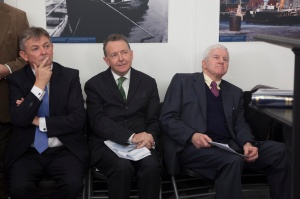 At the symposium in Galway Museum with Seán Ó CuirreáinAn Coimisinéir Teanga [Irish Language Commissioner] and Johnny Joyce