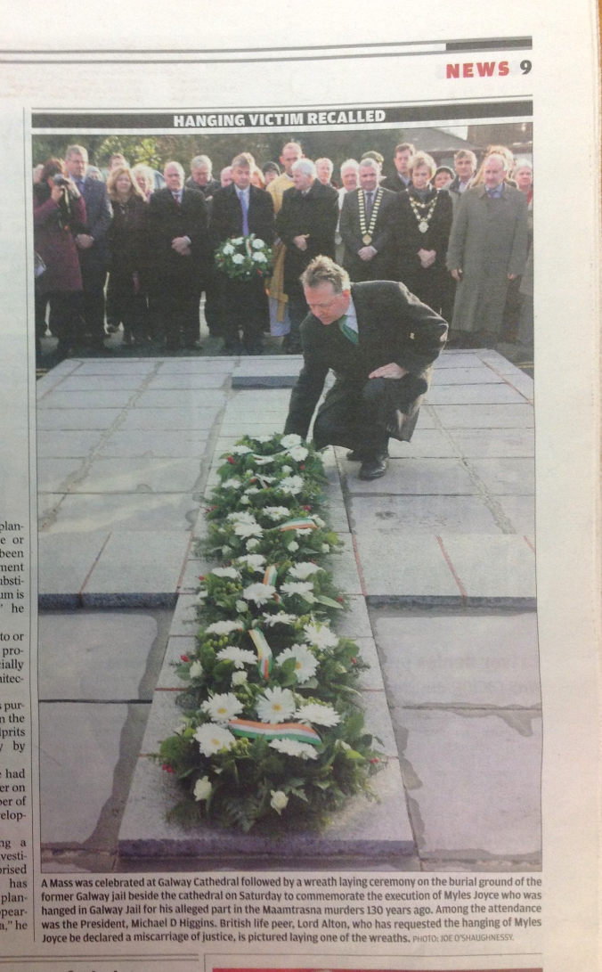 Wreath Laying Galway Cathedral