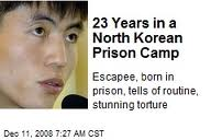 Shin Dong Hyok - born in Camp 14 where he was incarcerated for 23 years