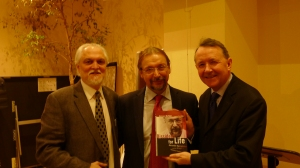 With Danny Smith of Jubilee Campaign and Alexander Ogorodnikov at the launch of his biography,  The Eternal Dissident""