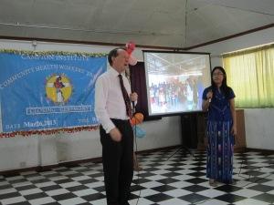 Speaking at the Campion Institute Rangoon
