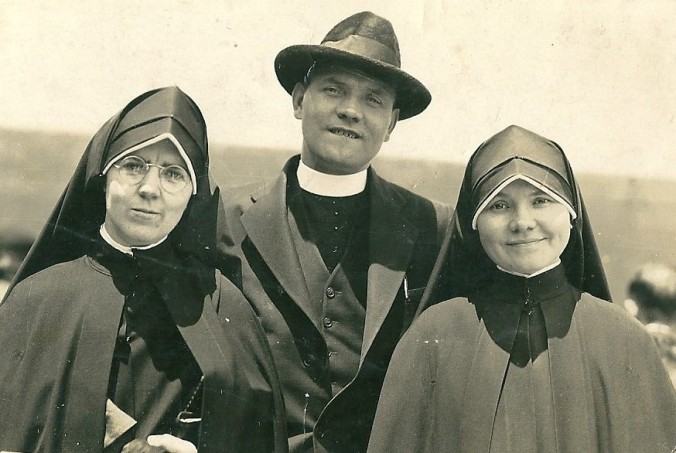 1939 Fr.Patrick Malone and his sister (mum's cousins)
