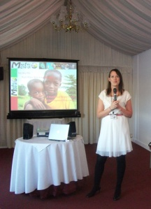 MOTEC reception at the House of Lords - Dr.Louisa Draper, Motec Trustee, explains the NUWLIFE project