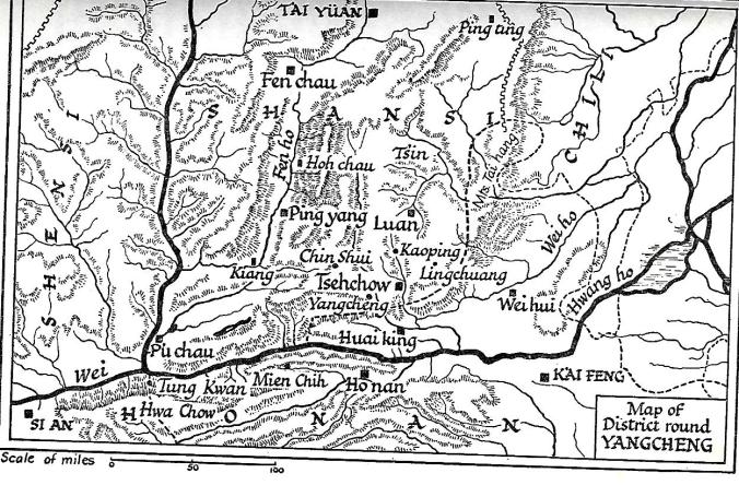 Gladys Aylward and the district around Yangcheng