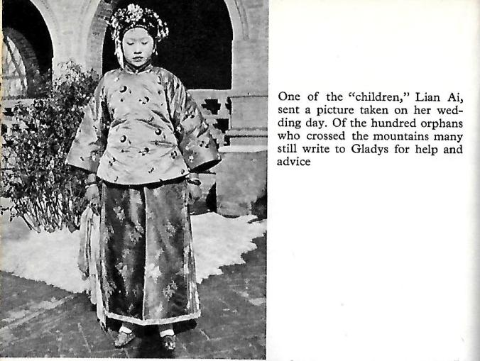 Gladys Aylward took Lian Ai across the mountains - this picture is from her wedding day