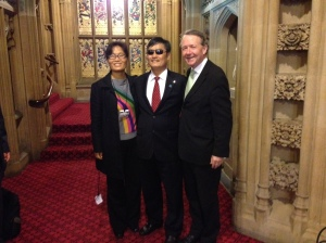 Cheng Guangcheng and his wife come to the House of Lords