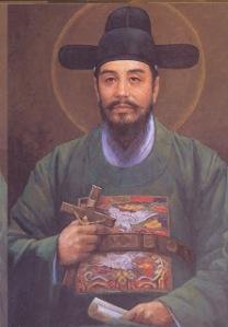 Korean Martyrs 10 St__Nam_Chong-sam_John_B__(Kim_Tai,_90x72,_1984)