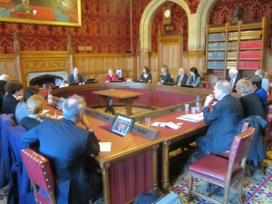 Meeting at the House of Lords with Mr.Justice Michael Kirby's Commission of Inquiry into Human Rights Abuses in North Korea.