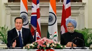 David Cameron with Manmohan Singh