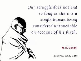 What Gandhi had to say about untouchability