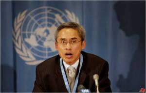 "Professor Muntarbhorn described North Korea's human rights record as ""abysmal"" due to ""the repressive nature of the power base: at once cloistered, controlled and callous."" The exploitation of ordinary people, he said, ""has become the pernicious prerogative of the ruling elite""."