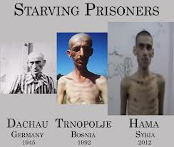 Citizens have been under siege in Homs and elsewhere, being starved to death.