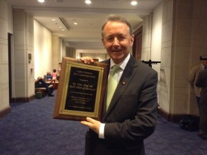 Award for Championing religious Freedom presented at a meeting in the American Congress 2014