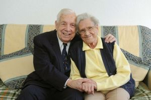 Ken and Edna Medlock - married for 75 years