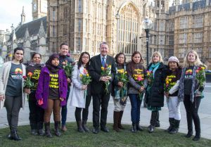 March 4th 2015 - David Alton with a group of domestic migrant - campaigning for changes in the law.
