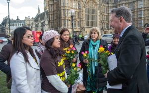 March 4th 2015 - David Alton with a group of domestic migrant workers visiting Parliament