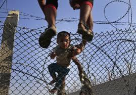 Escaping Syrian Children