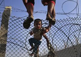 Escaping Syrian Children