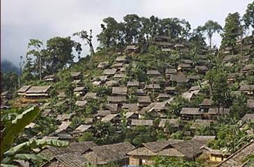 Karen refugee camp on the Burma border