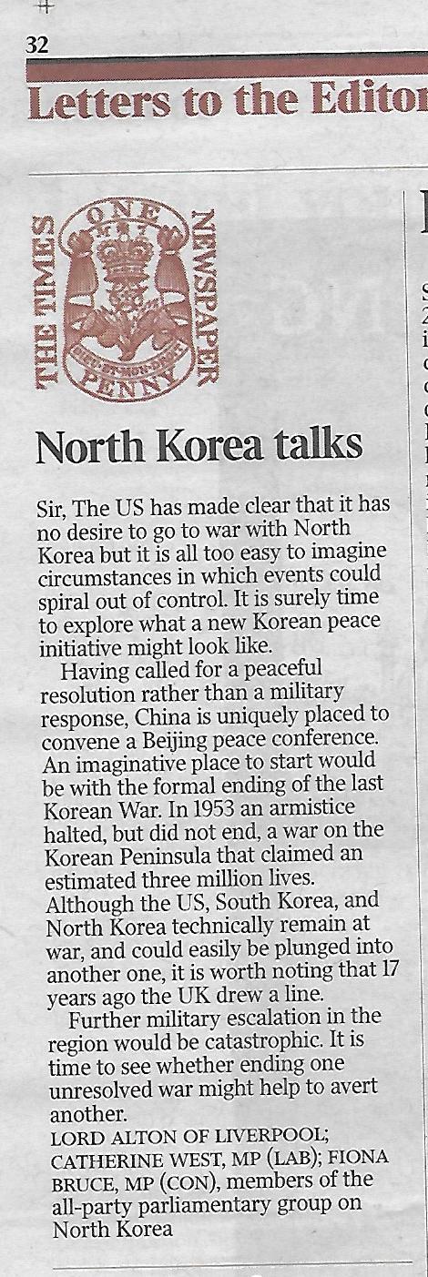 28 Sept 2017 DA ltr TheTimes re NK
