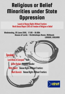 Religious Freedom Meeting Poster