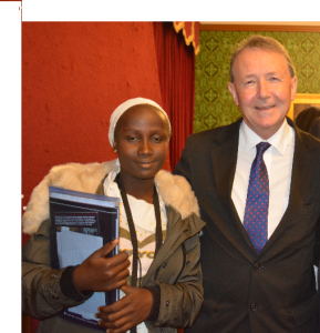 With Victoria Yohanna - who escaped from Boko Haram - at the launch of