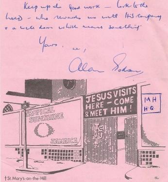 1975 letter from Revd Alan Godson Vicar of St Mary's Edge Hill (2)