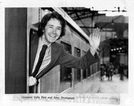 1979 - Leaving of Liverpool - DA leaves Lime Street Station to take his seat at Westminster.-7001