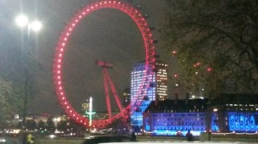 red-wednesday london eye
