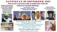 Eritrea poster - London protest rally 2Nov2019
