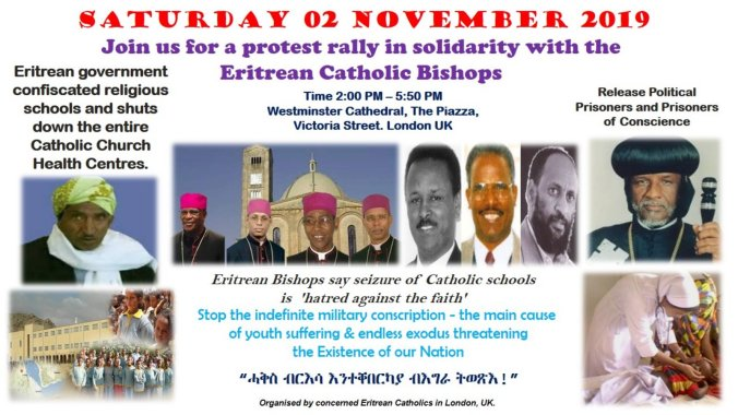 Eritrea poster - London protest rally 2Nov2019