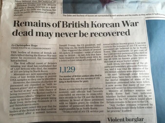 North Korea British fatalities