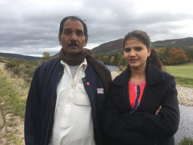 1106Pakistan_Asia Bibi_s husband and daughter, Ashiq Masih and Eisham As...