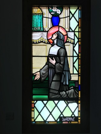 Stained Glass of St.Clare at Theodore House