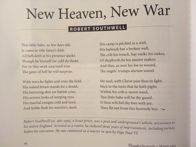 Southwell poem