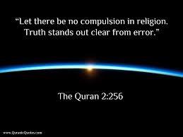 Quran no compulsion in religion