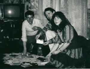 1985 Leningrad with Tanya Barinov campaigning for the release of her husband, musician Valeri (pictured with Bill Hampson) (2)