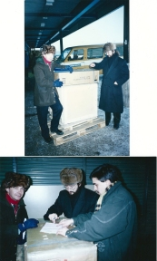 1989 Moscow with alexander Ogorodnikov moving the printing machine from the airport