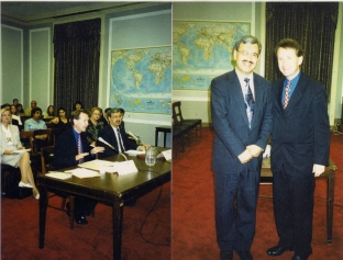 1999 Washinton DC giving evidence to the US Congress about the siutation in Burma and Indonesia-37