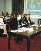 1999 Washinton DC giving evidence to the US Congress about the siutation in Burma and Indonesia-37A